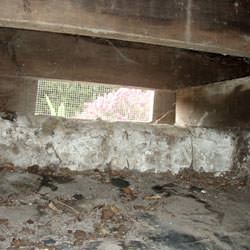 A crawl space vent in Ellsworth that's bringing moisture into the home