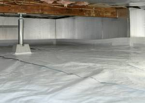 A sealed, insulated, and structurally repaired Menomonie crawl space