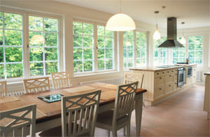 Replacement windows are sized to fit into existing openings