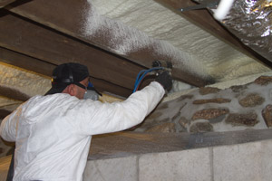 Spray Foam in the crawl space in Cottage Grove